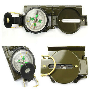 Outdoor-Compass-Metal-Pocket-Military-Army-Gear-Hiking-Camping-Survival-Marching
