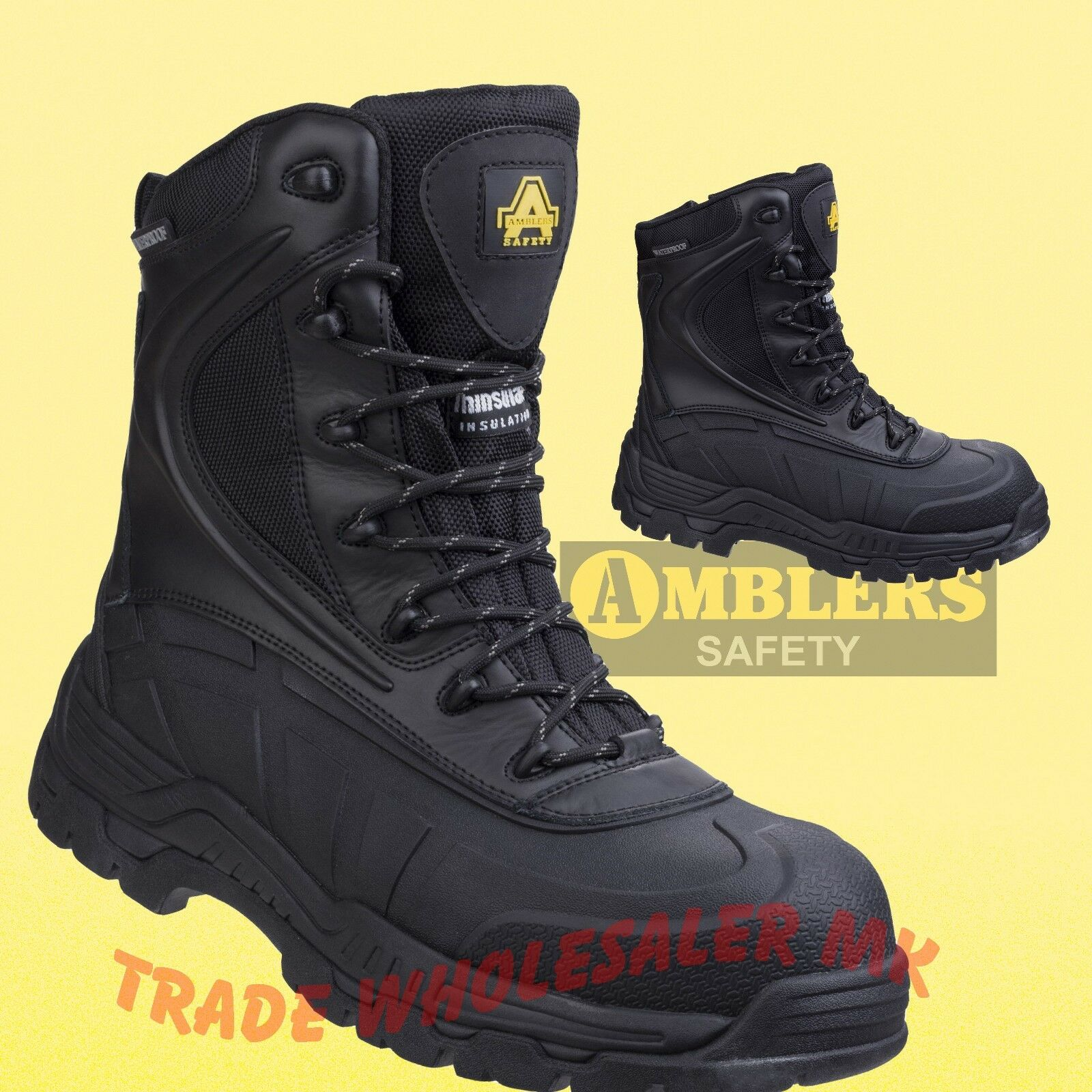 Amblers AS440 Safety S3 WP HRO+W/P SKOMER Safety AS440 botas - Negro - thinsulate lining b5c97f