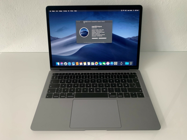 MacBook Air, 2 ÅRS REKLAMATION , 1,6 GHz, 8 GB ram, 128 GB…