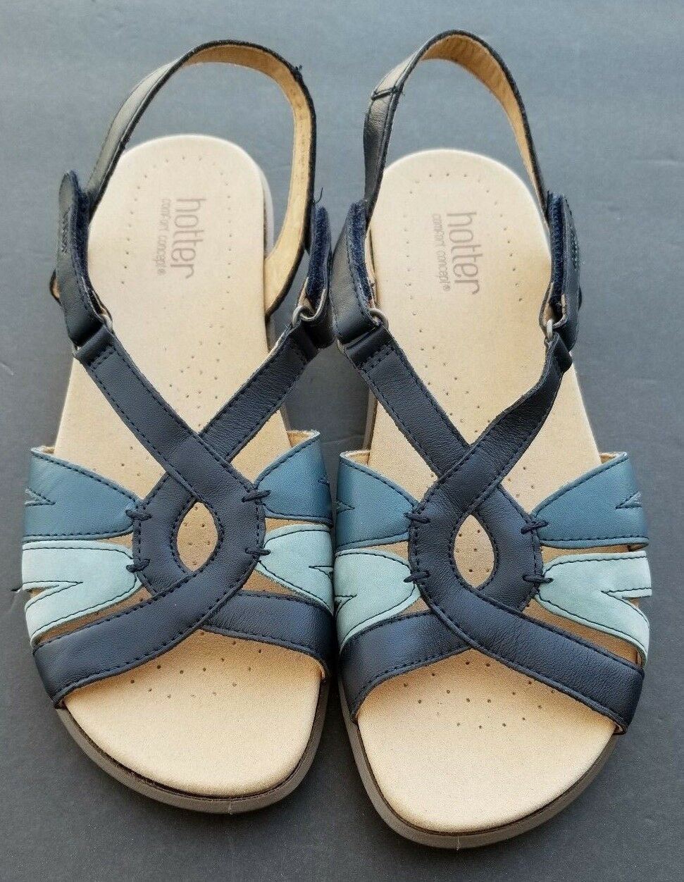 Hotter Flare Leather Sandals Size 9 EU 41