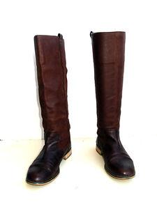 Zara-botas-de-verano-en-piel-marron-en-38-Brown-leather-Summer-boots-size-38