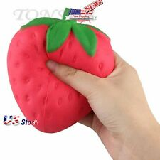 11.5CM Cute Squishy Slow Rising Strawberry Jumbo Straps Charms Kawaii Gifts US