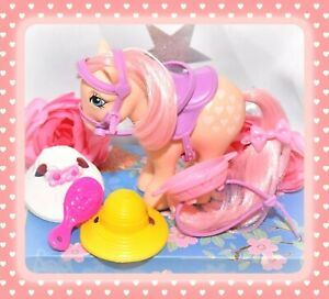 My-Little-Pony-MLP-G1-VTG-1982-Peachy-Pretty-Parlor-Saddle-Bridle-Accessory