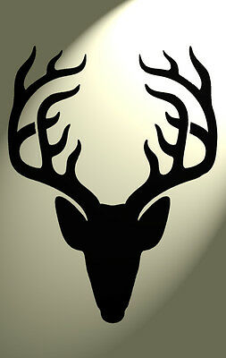 Shabby Chic Plastic Stencil Stag deer head Vintage A4 297x210mm wall Design 4