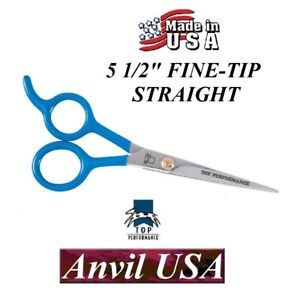 Details about ANVIL-TOP PERFORMANCE PET GROOMING STRAIGHT 5 1/2