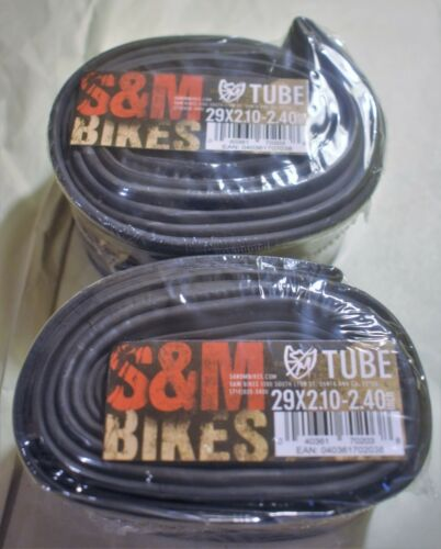 S/&M Bikes 29x2.1-2.4 29 inch Tubes Pair for Cruiser BMX Bike Shrader Valve