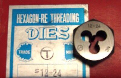 "ProCut #8-32NC HEXAGON RE THREADING DIE 1/"" ER63 0008NC NOS"