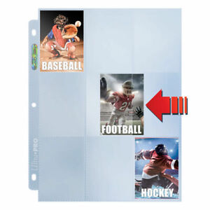 10-x-ULTRA-PRO-PLATINUM-CLEAR-SIDE-LOAD-TRADING-CARD-PAGES-SLEEVES-9-POCKET