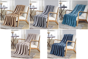 Premium-New-Solid-Throw-Blanket-V-Collection-50-034-x-60-034-Soft-Warm-Multi-Purpose