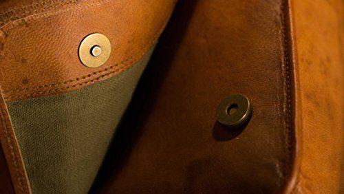 """15/"""" distressed Real Handmade Leather messenger laptop computer case shoulder bag"""