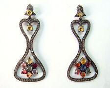 Victorian 2.40ct RoseCut Diamond Gemstones Impressive Christmas Bridal Earrings