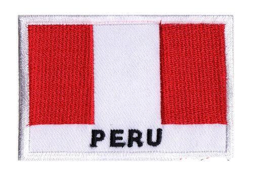 Ecusson patche drapeau patch à coudre Pérou PEROU 70 x 45 mm Pays monde