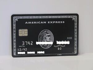 American Express Black Centurion Card Amex With Chip Ebay