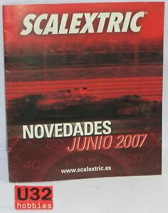Sensible Scalextric Tecnitoys BroschÜre-neuheiten Juni Jahr 2007 Neu 12 Seiten Elektrisches Spielzeug