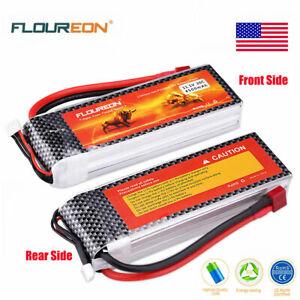 Floureon-3S-11-1V-4500mAh-30C-Lipo-Bateria-Pack-T-Enchufe-para-avion-RC-coche-carro