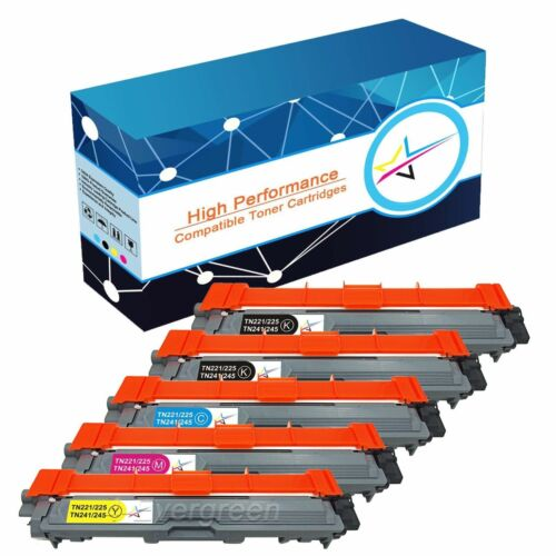MFC-9330CDW MFC-9340CDW 5 Pk TN221 BK TN225 Color Toner For Brother MFC-9130CW