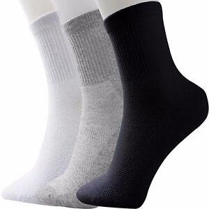 5-Paar-Socken-Sport-Tennissocken-Arbeit-Herren-Damen-Schwarz-Weiss-40-42-43-46