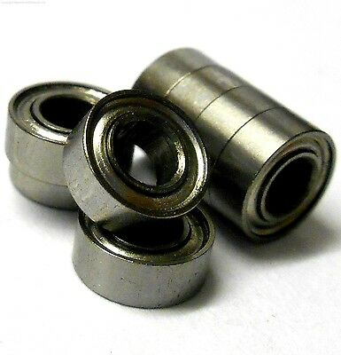 8 x 4 x 3 OD x ID x W T10076 8 X Roller Ball Bearings 8mm x 4mm x 3mm