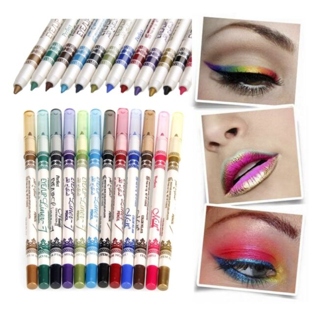 New 12 Color Vogue Pro Waterproof Durable Eyeliner Eyeshadow Pen for Makeup Y-35