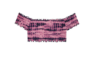 Victoria's S Off Secret nuotare taglia the Rosa spalla New Smocked Top qgO6Fqd