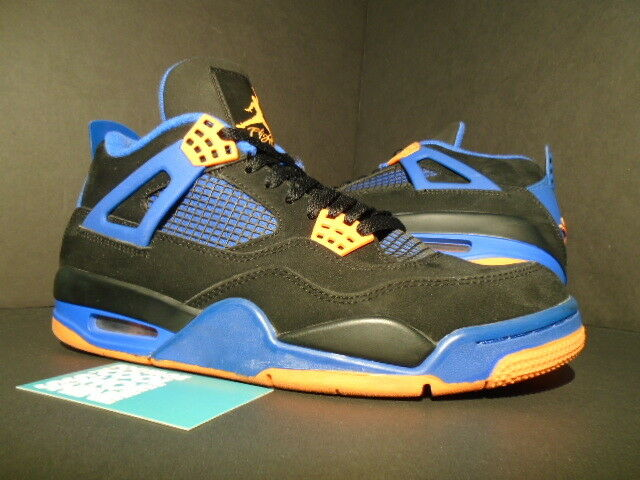 new concept 8fad8 3dd2d Nike Air Jordan IV 4 Retro Noir ORANGE BLUE CEMENT CAVS SHOT 308497-027 OG