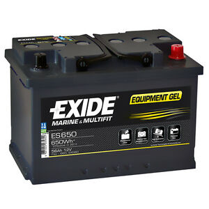 exide equipment gel es650 56ah 12v gelbatterie usv solar. Black Bedroom Furniture Sets. Home Design Ideas