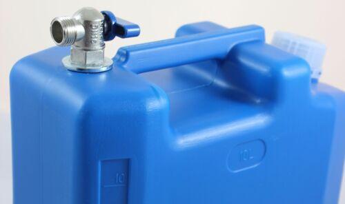 Wasserkanister Kanister mit Metallhahn 10l Tank geeignet für Auflieger Camper