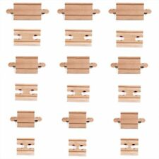 Wood Train Track Male Female Connectors /& Adapters Compatible Brio Thomas 18 Pcs
