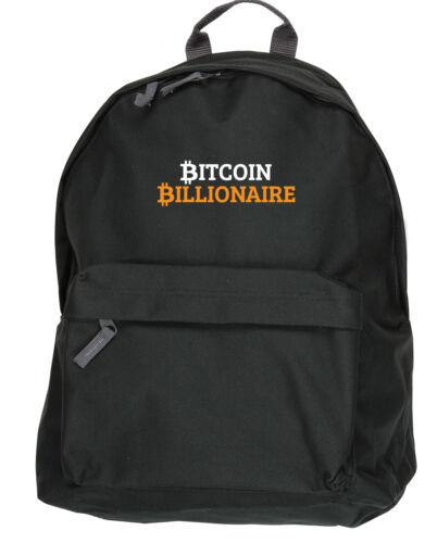 31x42x21cm Bitcoin MILIARDARIO Ruck Sack zaino Dimensioni