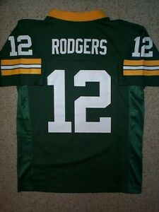 2020-2021) Green Bay Packers AARON RODGERS nfl Jersey YOUTH KIDS ...