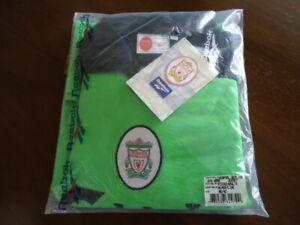 """LIVERPOOL Original 1999 Reebok Green GOALKEEPER Shirt 38-40"""" MINT BAG TAGS Rare"""