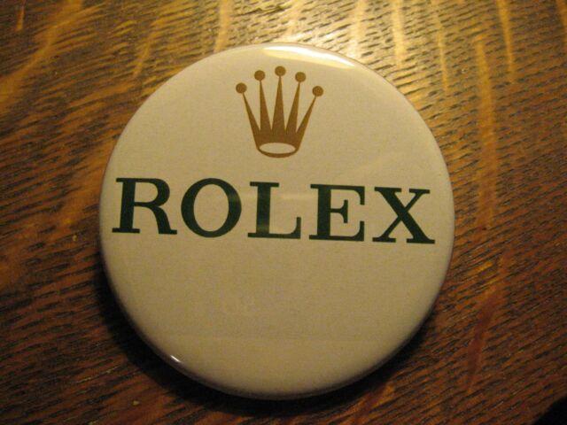 Rolex Pocket Mirror - Rolex Crown Logo Swiss Watch Advertisement Lipstick Mirror