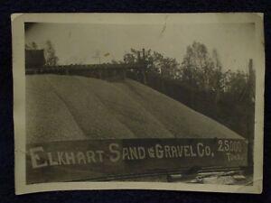 1930s-ELKHART-LAKE-WI-SAND-amp-GRAVEL-Co-25-000-Ton-Pile-Train-Tracks-B-amp-W-Photo
