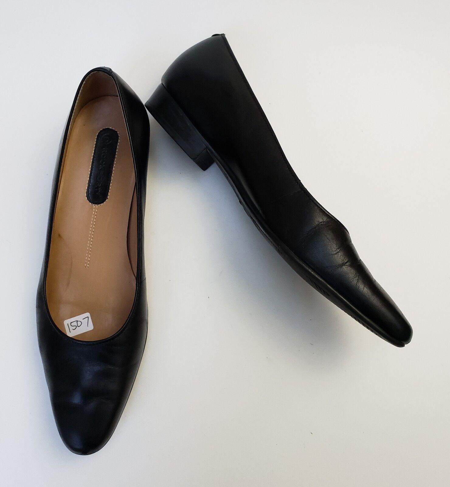 Rockport shoes Flats Black Slip On Womens Size 6.5 M