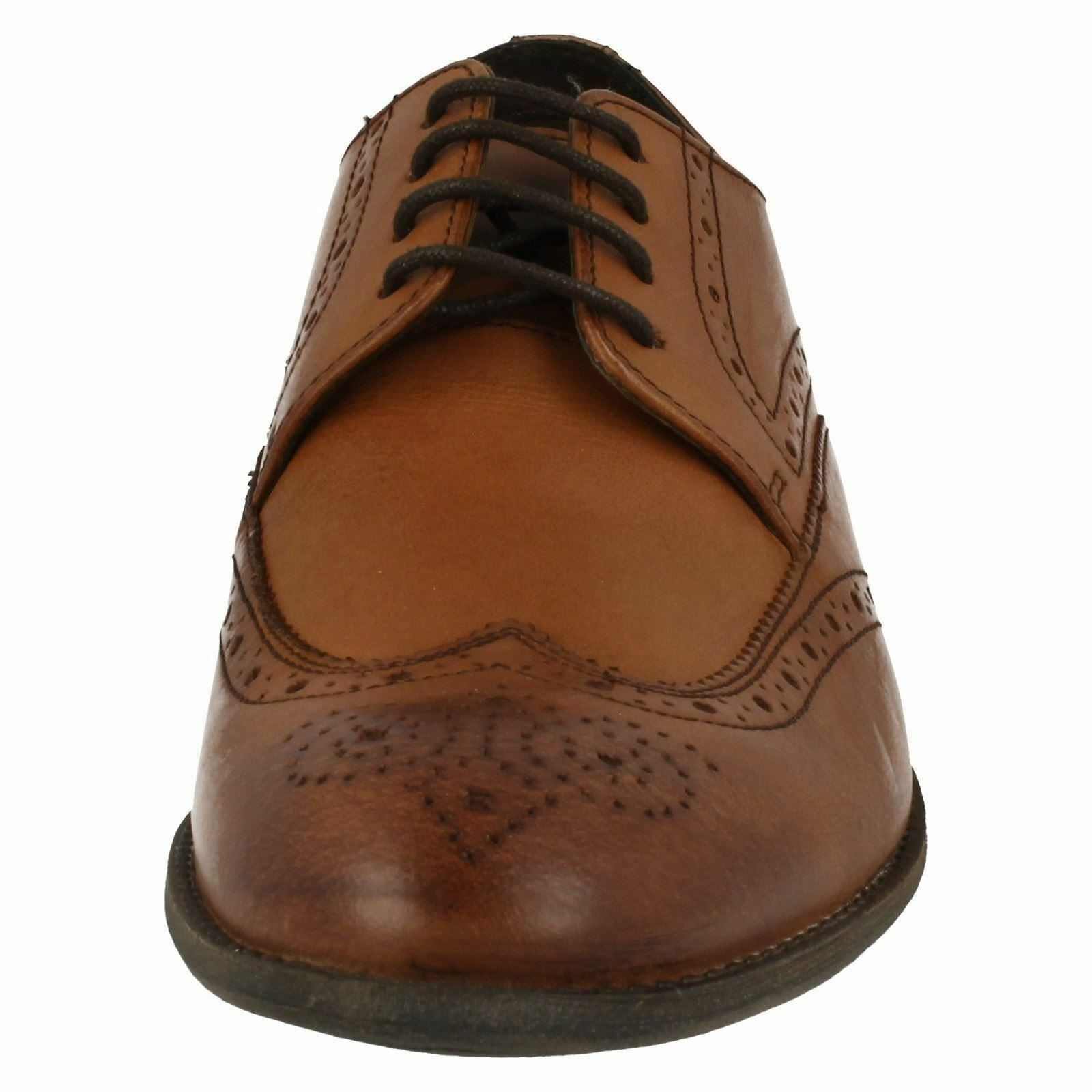 Mens Clarks Chart Limit Leather Smart Lace Up Brogue Shoes G Fitting