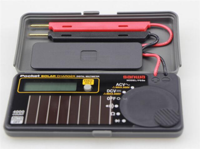 Sanwa PS8A Solar Battery Pocket Size Multimeter DMM 0.7% NEW