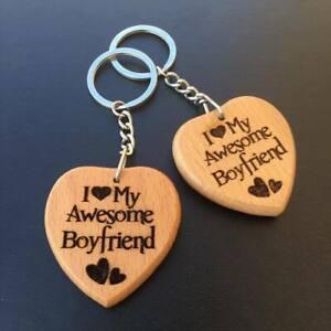Details About I Love My Boyfriend Engraved Keyring Keychain Him Christmas Birthday Gift