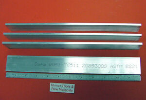 "4 Pieces 3/16"" X 1-1/2"" ALUMINUM 6061 FLAT BAR 12"" long T6511 .187"" Mill Stock"