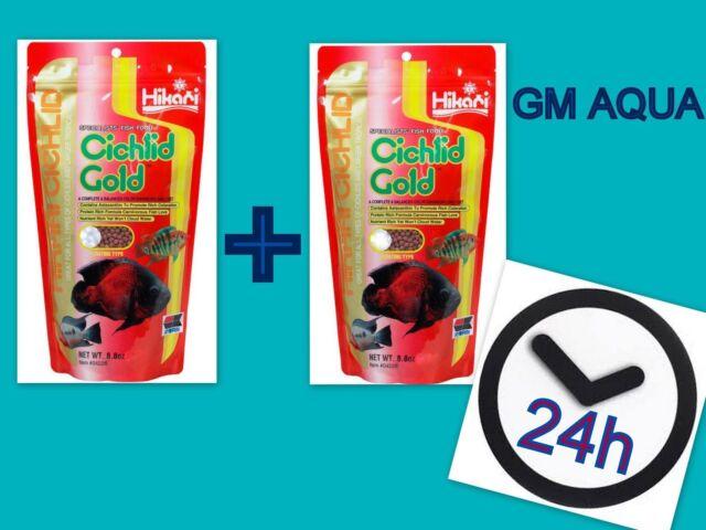 2 x HIKARI CICHLID GOLD 250gr all option 1st class postage