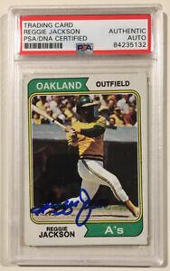 1974-Topps-REGGIE-JACKSON-Signed-Autographed-Baseball-Card-PSA-DNA-Oakland-A-s