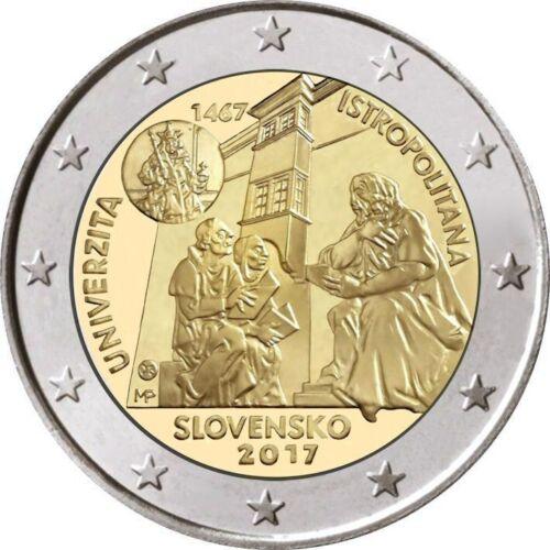 550th Anniversary 2 Euro Slovakia 2017 Unc University Istropolitana