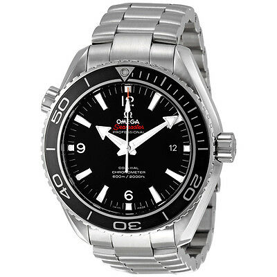 Omega Seamaster Black Dial Automatic Stainless Steel Mens Watch