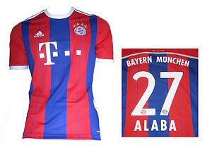 de3d0bcb1865fe Das Bild wird geladen Bayern-Muenchen-Trikot-Alaba-Adidas-Gr-L