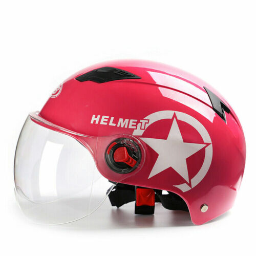 Cycling Helmet Motorcycle Scooter Bike Open Face Half Helmets Anti-UV Safety Cap