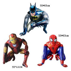 Large Self Stand 3d Superhero Spiderman Batman Iron Man Birthday Foil Balloon