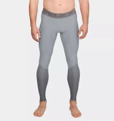 Under Armour HeatGear Men's Size Small Grey Compression Tights 1306411-941