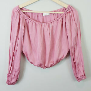 KOOKAI-Womens-Off-shoulder-Miami-Pink-Top-Size-EUR-40-or-AU-12-US-8