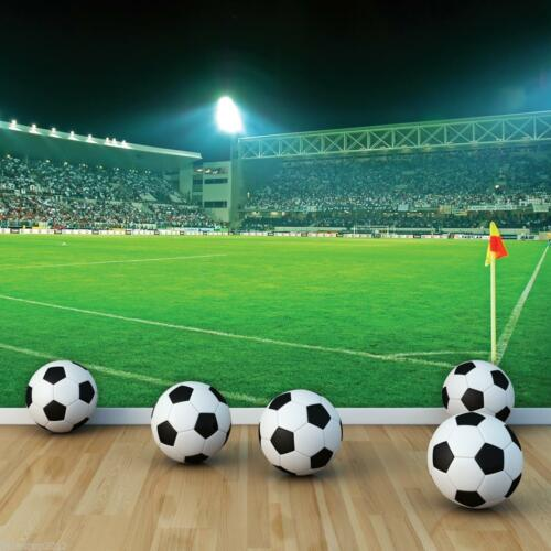 Tapete Fototapeten Tapeten Sport Stadion Ball Fussball Rasen Kinder  14N306P4