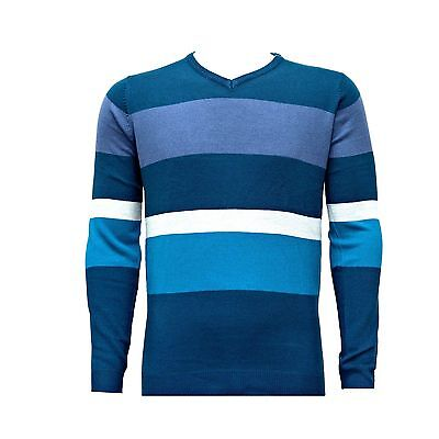 Mens Bling Sweatshirt Knitwear Sweater Jumper Pullover V Neck Long Sleeve Tops