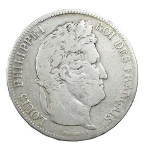Piece-Argent-5-francs-Louis-Philippe-I-tete-lauree-1834-A-Atelier-de-Paris